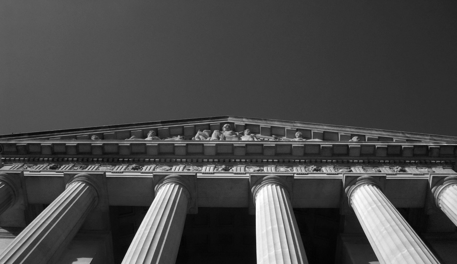 Black and White Courthouse Background Image